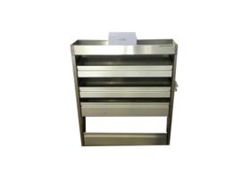 Aluminium kleppenkast CU-002