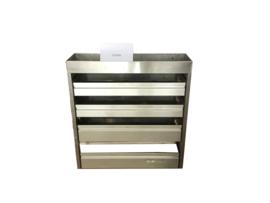 Aluminium kleppenkast CU-016