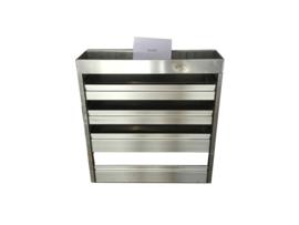 Aluminium kleppenkast Cu-021