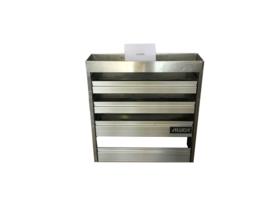 Aluminium kleppenkast Cu-049