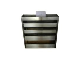 Aluminium kleppenkast Cu-058