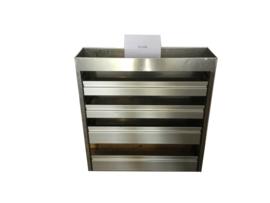 Aluminium kleppenkast Cu-056