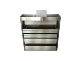 Aluminium kleppenkast Cu-024