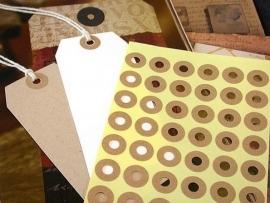 Kraft rondjes (70 stickers)