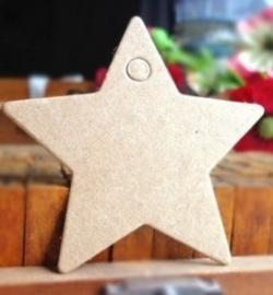 Labels ster (5,6 x 5,6 cm/10 stuks)