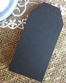 Klassiek zwart label groot (4,5 x 9,5 cm/10 stuks)