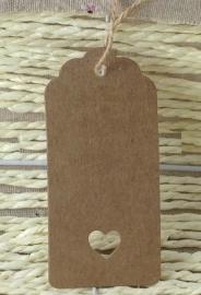 Geschenkanhänger mit Bögen und Herzausschnitt XL