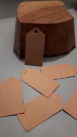 Label met boogjes (4,0x 2,0cm/25 stuks)