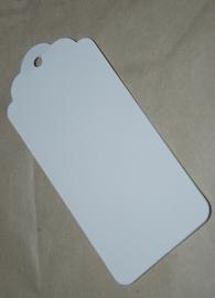 Label wit met boogjes (4,5 x 9,5 cm/10 stuks)