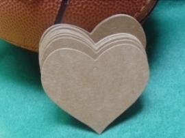 Hartvormig label (6,5 cm/25stuks)