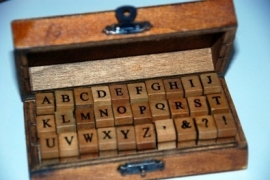 "Alfabetstempels ""antiek look"" (kleine letter)"