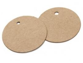 Ronde labels groot ( 7,5 cm/25 stuks)