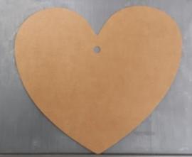 Hartvormig label (15 cm/25stuks)