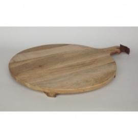 Mango houten snijplank rond 50 cm