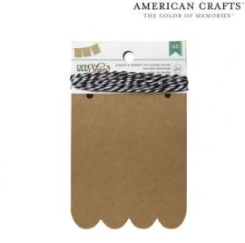 DIY vlaggenlijn golfjes (American Crafts)