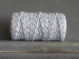 bakkerstouw lichtblauw-wit