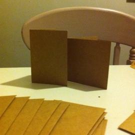 Dovecraft Kraft kaarten en enveloppen (9,0 x9,0 cm/20 sets)
