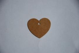 Hartvormig label 3,5 cm (25 stuks)