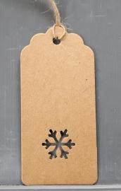 Boogjes met sneeuwvlok (9,5x4,5cm/10 stuks)