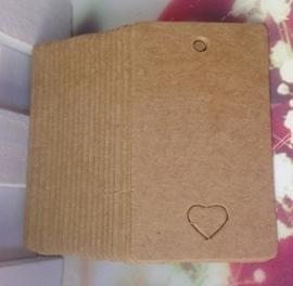 Klein label rechthoekig met hartvorm 5,0 x 3,0 cm (25st)