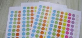 gekleurde labelstickers (70 stickers)
