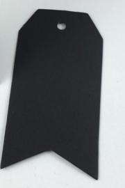Klassiek zwart label met punten(4,5 x 9,5 cm/10 stuks)