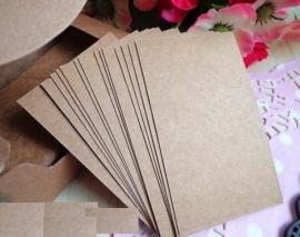 Blanco visitekaartjes Kraft (100 kaartjes)