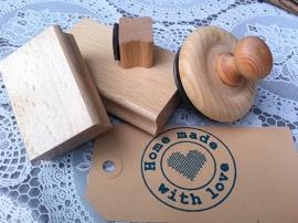Rechteckiger Holzstempel