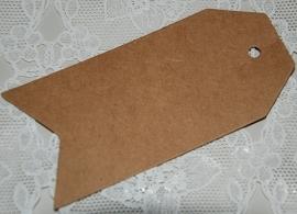 Klassiek label groot met punten (9,0 x 4,5 cm/25 stuks)