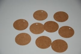 Ronde labels klein ( 5,0 cm/25 stuks)