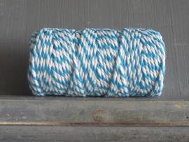 bakkerstouw kobaltblauw-wit