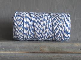 bakkerstouw donkerblauw-wit