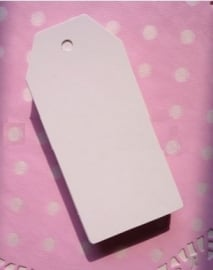 Label wit in de klassieke vorm  (4,5x9,0cm/10 stuks)