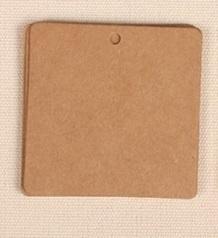 Kraft label vierkant (6x6cm/25stuks)