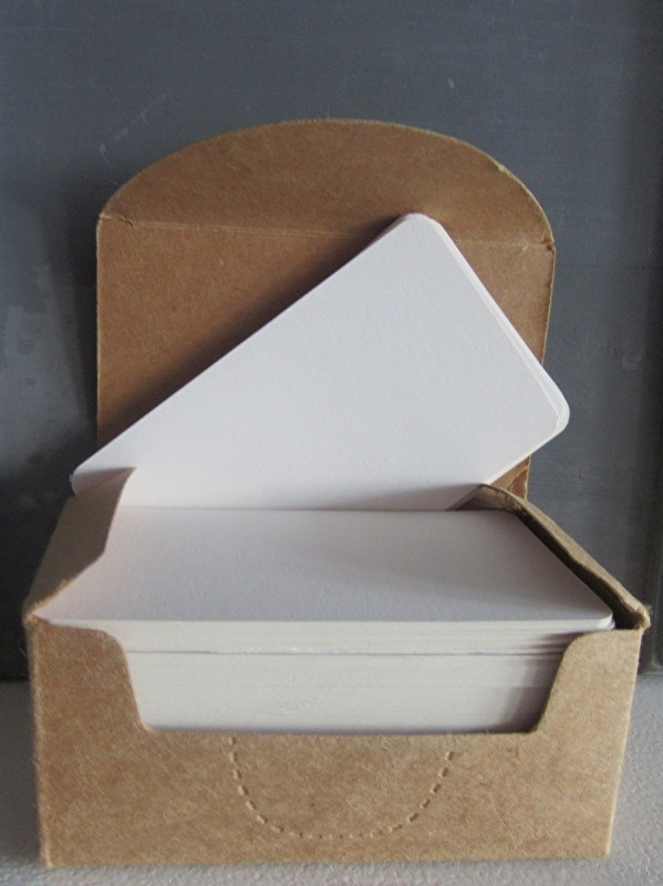 Blanco visitekaartjes Wit (100 kaartjes)