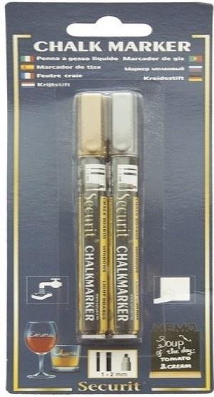 Flüssigkreide fineliner gold und silber (1-2mm)