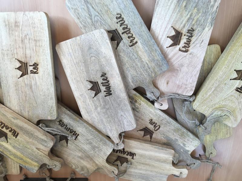 Mango houten snijplank F (13x21 cm) incl graveren