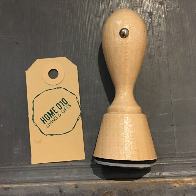 Runde Holzstempel logo