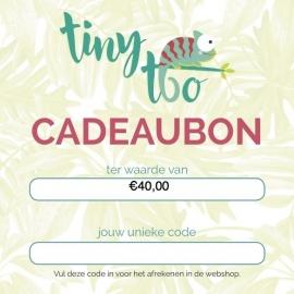 Cadeaubon t.w.v. €40,00
