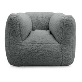 Jollein fauteuiltje beanbag teddy storm grey
