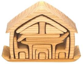 Houten meubelhuis naturel