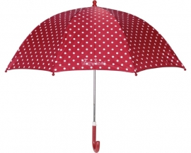 Paraplu rood met stippen