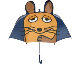 3D paraplu Muis donker blauw