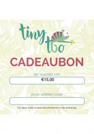 Cadeaubon t.w.v. €15,00