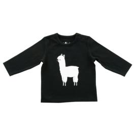 Jollein shirtje lange mouw Lama black&white