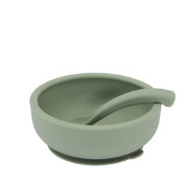 Bowl Met Deksel En Lepel, Sage