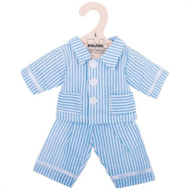 Pyjama blauw gestreept