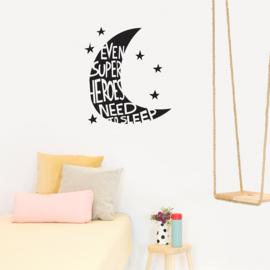 Chispum Wall Sticker - Even Superheroes Need To Sleep