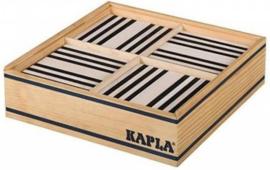 Kapla 100 plankjes, zwart en wit