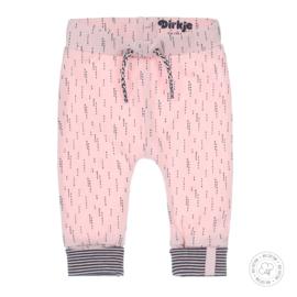 Dirkje meisjes broekje licht roze AOP Bio Katoen